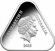 5 Dollars - Elizabeth II (4th Portrait - ANZAC - Silver Proof) -  obverse