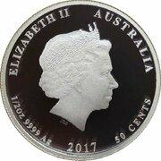 50 Cents - Elizabeth II (4th Portrait - Newborn) -  obverse