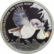 50 Cents - Elizabeth II (4th Portrait - Newborn) -  reverse