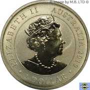 1 Dollar - Elizabeth II (6th Portrait - England to Australia - G-EAOU) -  obverse