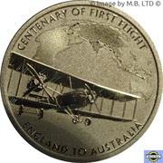 1 Dollar - Elizabeth II (6th Portrait - England to Australia - G-EAOU) -  reverse