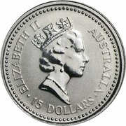15 Dollars - Elizabeth II (3rd Portrait - Koala - Platinum) – obverse