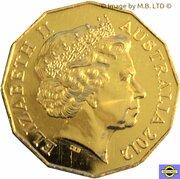 50 Cents - Elizabeth II (4th Portrait - Queens Diamond Jubilee - Gold Proof) -  obverse