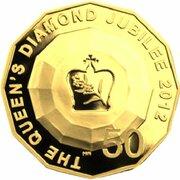 50 Cents - Elizabeth II (4th Portrait - Queens Diamond Jubilee - Gold Proof) -  reverse