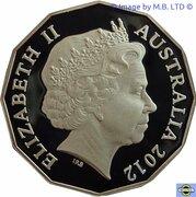 50 Cents - Elizabeth II (4th Portrait - Queens Diamond Jubilee - Silver Proof) -  obverse