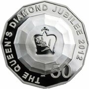 50 Cents - Elizabeth II (4th Portrait - Queens Diamond Jubilee - Silver Proof) -  reverse