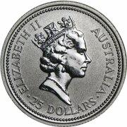25 Dollars - Elizabeth II (3rd Portrait - Koala - Platinum) – obverse