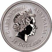 25 Dollars - Elizabeth II (4th Portrait - Koala - Platinum) -  obverse