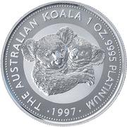 100 Dollars - Elizabeth II (3rd Portrait - Koala - Platinum) -  reverse