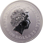 100 Dollars - Elizabeth II (4th Portrait - Koala - Platinum) -  obverse
