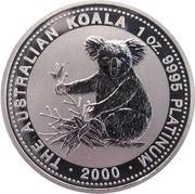 100 Dollars - Elizabeth II (4th Portrait - Koala - Platinum) -  reverse