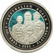 100 Dollars - Elizabeth II (4th Portrait - Koala - Platinum - Multiculturalism) -  reverse