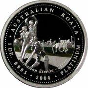 100 Dollars - Elizabeth II (4th Portrait - Koala - Platinum - Sports) -  reverse