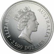 2,500 Dollars - Elizabeth II (3rd Portrait - Koala - Platinum) -  obverse