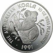 2,500 Dollars - Elizabeth II (3rd Portrait - Koala - Platinum) -  reverse