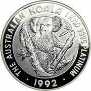 10,000 Dollars - Elizabeth II (3rd Portrait - Koala - Platinum) -  reverse