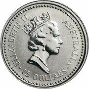 15 Dollars - Elizabeth II (3rd Portrait - Koala - Platinum) -  obverse