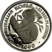 15 Dollars - Elizabeth II (3rd Portrait - Koala - Platinum) -  reverse