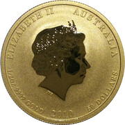 50 Dollars - Elizabeth II (4th Portrait - Year of the Tiger - Gold Bullion Coin) -  obverse