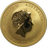 25 Dollars - Elizabeth II (4th Portrait - Year of the Snake - Gold Bullion Coin) -  obverse