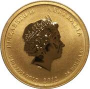 25 Dollars - Elizabeth II (4th Portrait - Year of the Dragon - Gold Bullion Coin) -  obverse