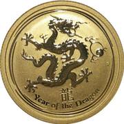 25 Dollars - Elizabeth II (4th Portrait - Year of the Dragon - Gold Bullion Coin) -  reverse