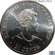 20 Cents - Elizabeth II (6th Portrait - AC/DC - Back in Black) -  obverse
