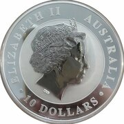 10 Dollars - Elizabeth II (4th Portrait - Koala - Silver Bullion Coin) -  obverse