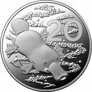 20 Cents - Elizabeth II (6th Portrait - Wind Up Platypus) -  reverse