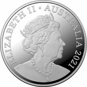 5 Cents - Elizabeth II (6th Portrait - Wooden Echidna) -  obverse