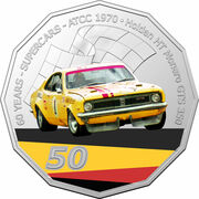 50 Cents - Elizabeth II (6th Portrait - 60 Years Supercars - Holden HT Monaro) -  reverse