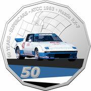 50 Cents - Elizabeth II (6th Portrait - 60 Years Supercars - Mazda RX-7) -  reverse