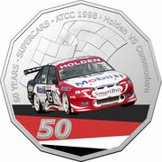 50 Cents - Elizabeth II (6th Portrait - 60 Years Supercars - Holden VS Commodore) -  reverse