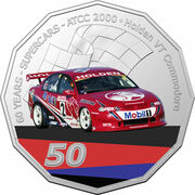 50 Cents - Elizabeth II (6th Portrait - 60 Years Supercars - Holden VT Commodore) -  reverse
