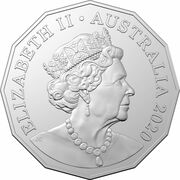 50 Cents - Elizabeth II (6th Portrait - 60 Years Supercars - Ford BF Falcon) -  obverse
