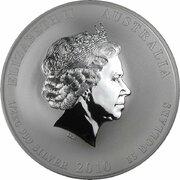 15 Dollars - Elizabeth II (4th Portrait - Year of the Tiger - Silver Bullion Coin) -  obverse