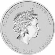 1 Dollar - Elizabeth II (4th Portrait - Year of the Dragon - Silver Bullion Coin) -  obverse