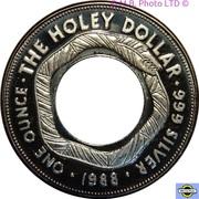 1 Dollar - Elizabeth II (3rd Portrait - The Holey Dollar) -  reverse