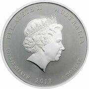1 Dollar - Elizabeth II (4th Portrait - Year of the Snake - Silver Bullion Coin) -  obverse