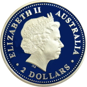 2 Dollars - Elizabeth II (4th Portrait - Kookaburra) -  obverse