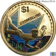 1 Dollar - Elizabeth II (4th Portrait - Young Collectors - Snorkelling) -  reverse