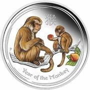 1 Dollar - Elizabeth II (4th Portrait - Year of the Monkey - Silver Bullion Coin) -  reverse