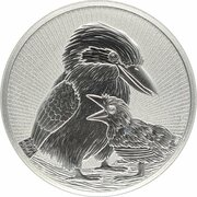 10 Dollars - Elizabeth II (6th Portrait - Kookaburra - Mother & Baby) – reverse