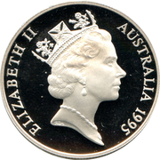 10 Dollars - Elizabeth II (3rd Portrait - Numbat - Frosted Proof) -  obverse