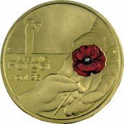 1 Dollar - Elizabeth II (4th Portrait - Lest We Forget - Red Poppy) -  reverse