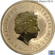 1 Dollar - Elizabeth II (4th Portrait - Young Collectors - Marathon Butterfly) -  obverse