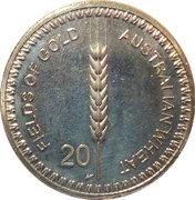 20 Cents - Elizabeth II (4th Portrait - Australian Wheat Fields of Gold) -  reverse