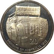 20 Cents - Elizabeth II (Air raid Shelter) -  reverse