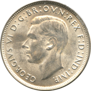 1 Florin - George VI -  obverse