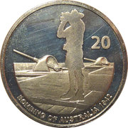 20 Cents - Elizabeth II (Military Lookout) -  reverse